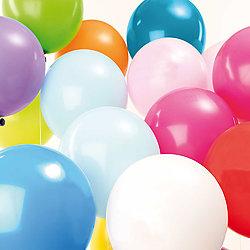 Ballons anniversaire Multicolores - Lot de 12