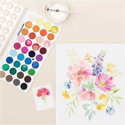 Grandes palette de peinture à l'eau - 36 couleurs