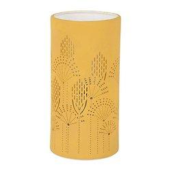 Lampe porcelaine décorative ajourée à poser - Sevent's Moutarde