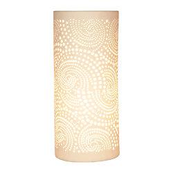 Lampe porcelaine blanche décorative ajourée à poser - Cachemire PM