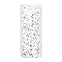 Lampe porcelaine blanche décorative ajourée à poser - Mandarin GM