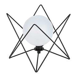 Lampe boule verre et métal à poser - Ardecor noir