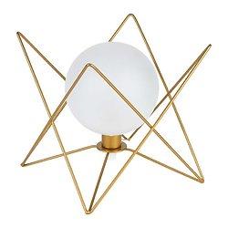 Lampe boule verre et métal à poser - Ardecor doré