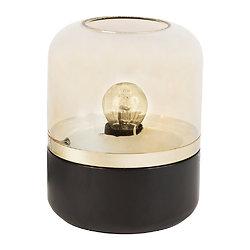 Lampe verre et bois à poser - Ardecor Noir et Or
