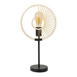 Lampe métal et bambou à poser - Filen Noir et Or