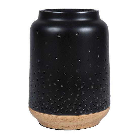 Lampe porcelaine diffuseur aromatique Etoile Noir
