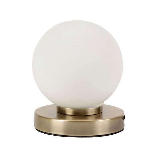 Lampe boule verre tactile à poser - Ardecor
