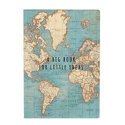 Cahier A5 - Carte du Monde Vintage