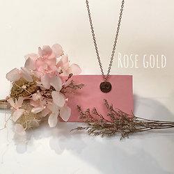 Collier Seins de Femme Le Solitaire rose gold