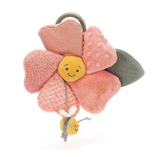 Jouet de poussette Jellycat - Fleury Petunia Activity Toy - FLEU2PAT 20 cm