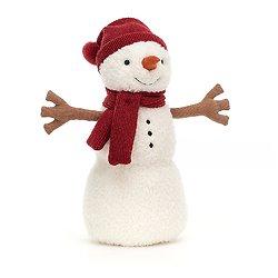 Peluche Jellycat Bonhomme de neige - Teddy Snowman Large - SWM2LT 34 cm