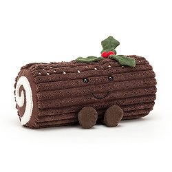 Peluche Jellycat Bûche de noël - Amuseable Yule Log - A2YUL 21 cm