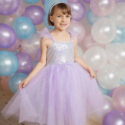 Déguisement fille Robe de Princesse Sequins Violet Lilas