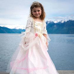Déguisement fille princesse Deluxe Rose et Or - 3/4 ans