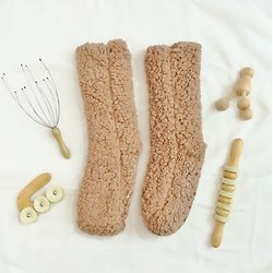 KIT Chaussettes sherpa  & Set de massages