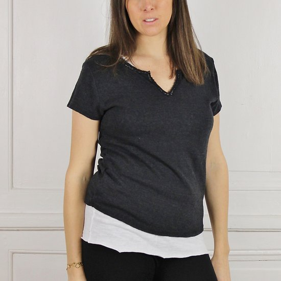 Pull t-shirt manches courtes