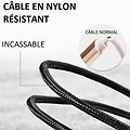 Cable magnétique chargement iPhone - Type C - Micro Usb 360°