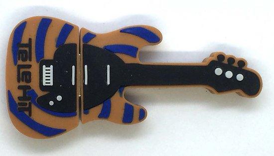 Guitare spirale bleu beige