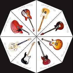 """Parapluie """"Guitares de Légendes"""""""