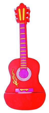 Guitare classique rouge