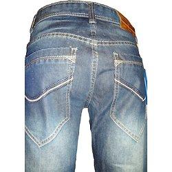 Jeans homme bleu à boutons