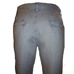 Pantalon lin léger bleu homme