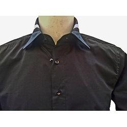 Chemise italienne noire pour homme