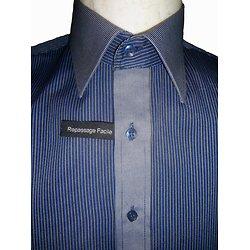 Chemise à rayures bleue originale pour homme