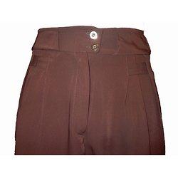 Pantalon marron à pinces pour homme