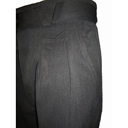 Pantalon gris à pinces pour homme