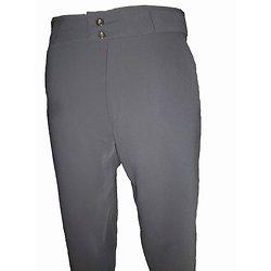Pantalon sans pince gris pour homme
