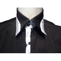 Chemise club noire pour homme