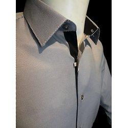 Chemises noires à rayures pour homme