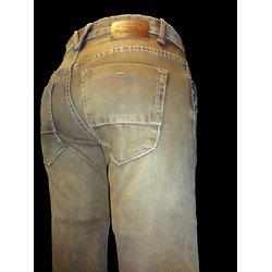 Jeans marron pour homme