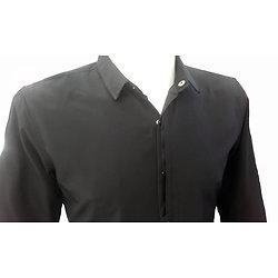 Chemise homme micro fibre noire