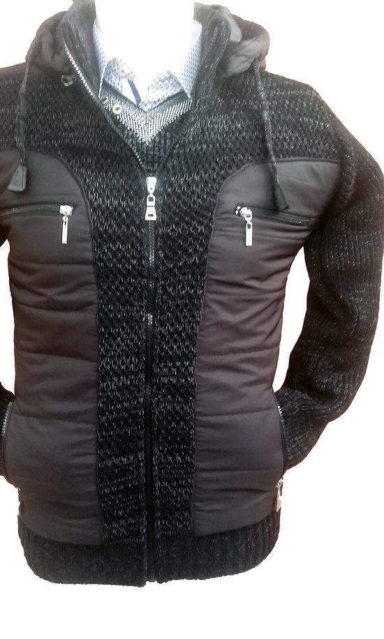 Veste mode noir à capuche pour homme
