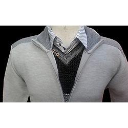 Gilet gris zippé pour homme