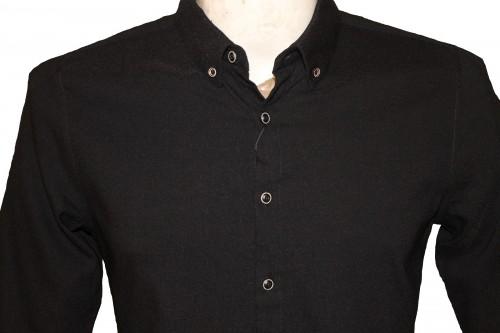 chemises sexy moulantes noires homme