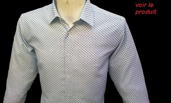 chemise blanche repassage facile pour homme