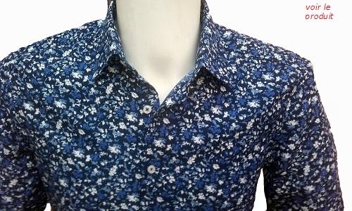 chemise a fleures pour homme repassage facile
