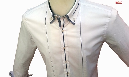 chemise blanche mode homme