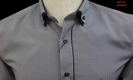 chemise habillé grise pour homme