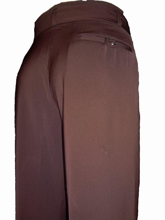 pantalon marron a pinces pour homme. Black Bedroom Furniture Sets. Home Design Ideas