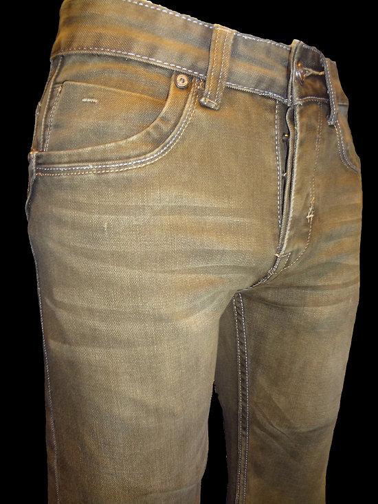 jeans marron pour homme mode pas cher. Black Bedroom Furniture Sets. Home Design Ideas