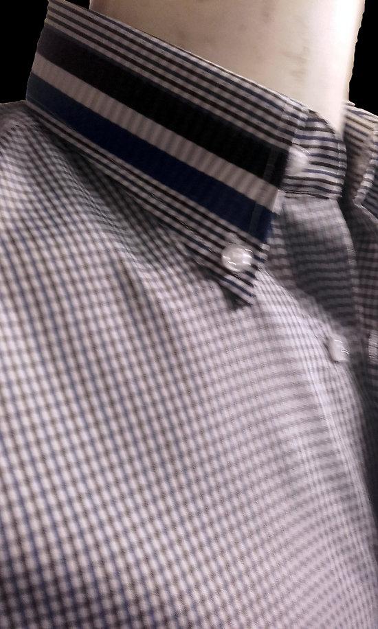 chemises petit carreaux bleus manches courtes d t pour homme. Black Bedroom Furniture Sets. Home Design Ideas