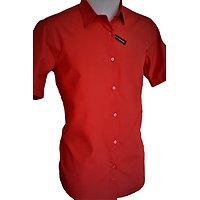 Chemisette rouge forme droite pour homme