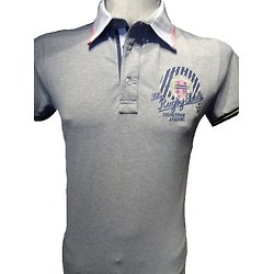 Polo rugby gris pour homme