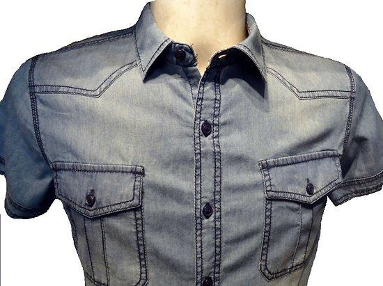 Chemisette jeans homme
