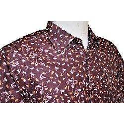 Chemise marron en coton pour homme