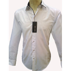 Chemise italienne blanche pour homme